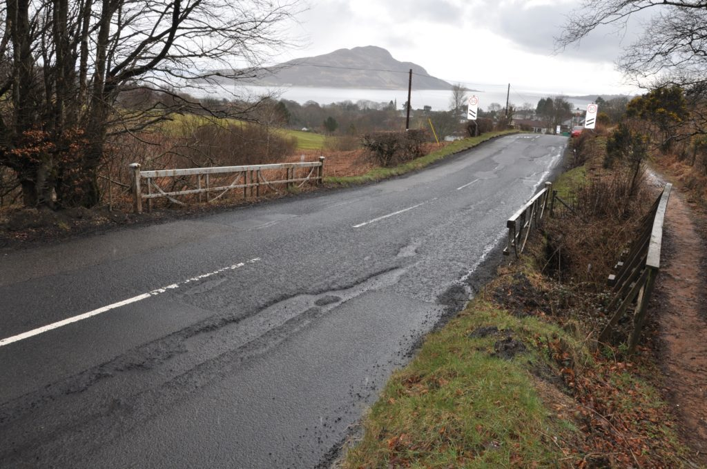 Lamlash roadworks delayed
