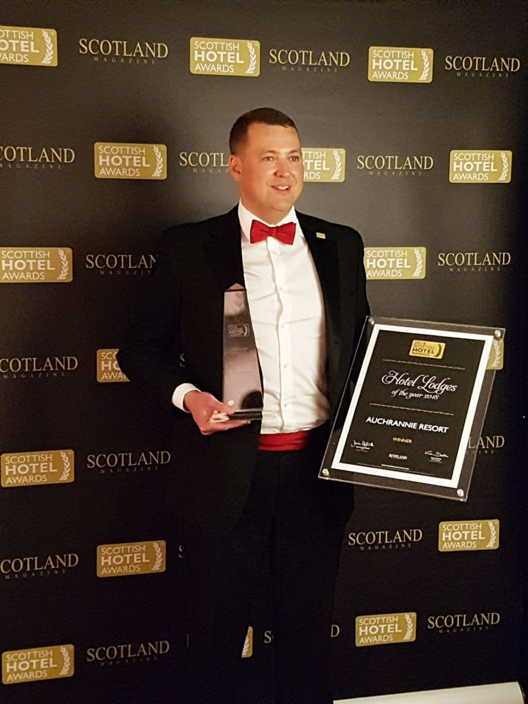 Auchrannie wins a top honour for hotel lodges