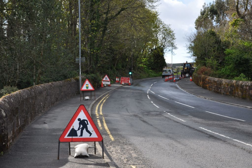 Weak road will take weeks to repair