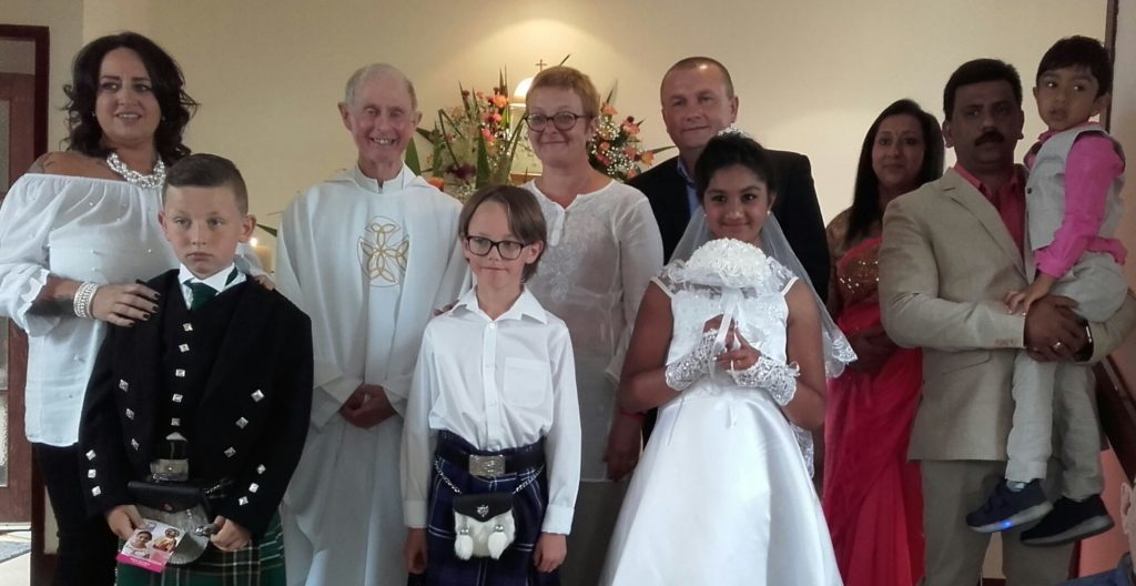 First communion is celebrated