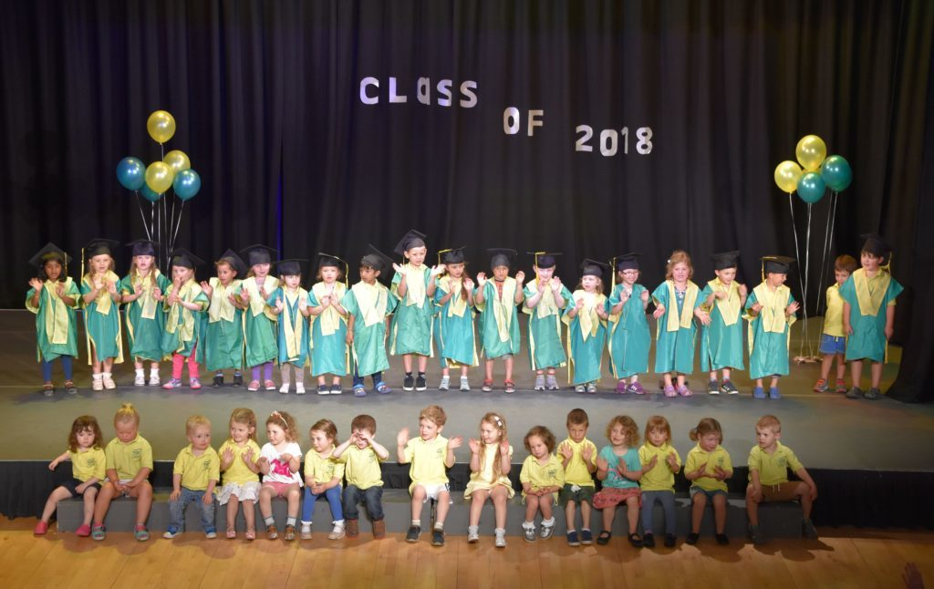 Tiny tots graduate from early years class
