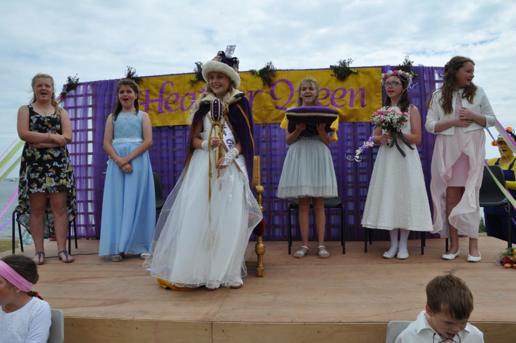 Fun in the sun as Lamlash Heather Queen Keira is crowned