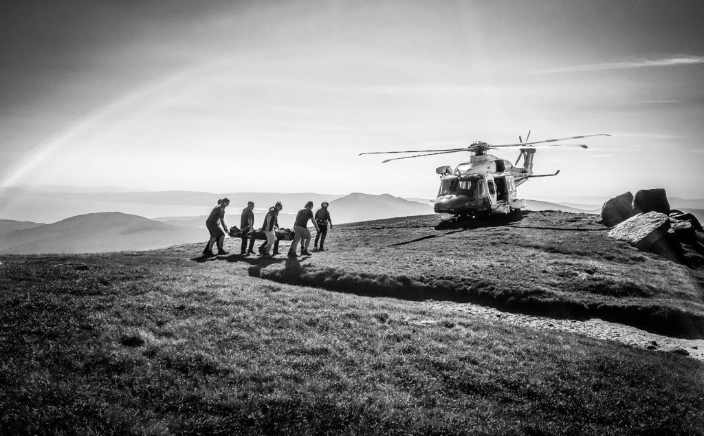 Injured walker evacuated in helicopter rescue