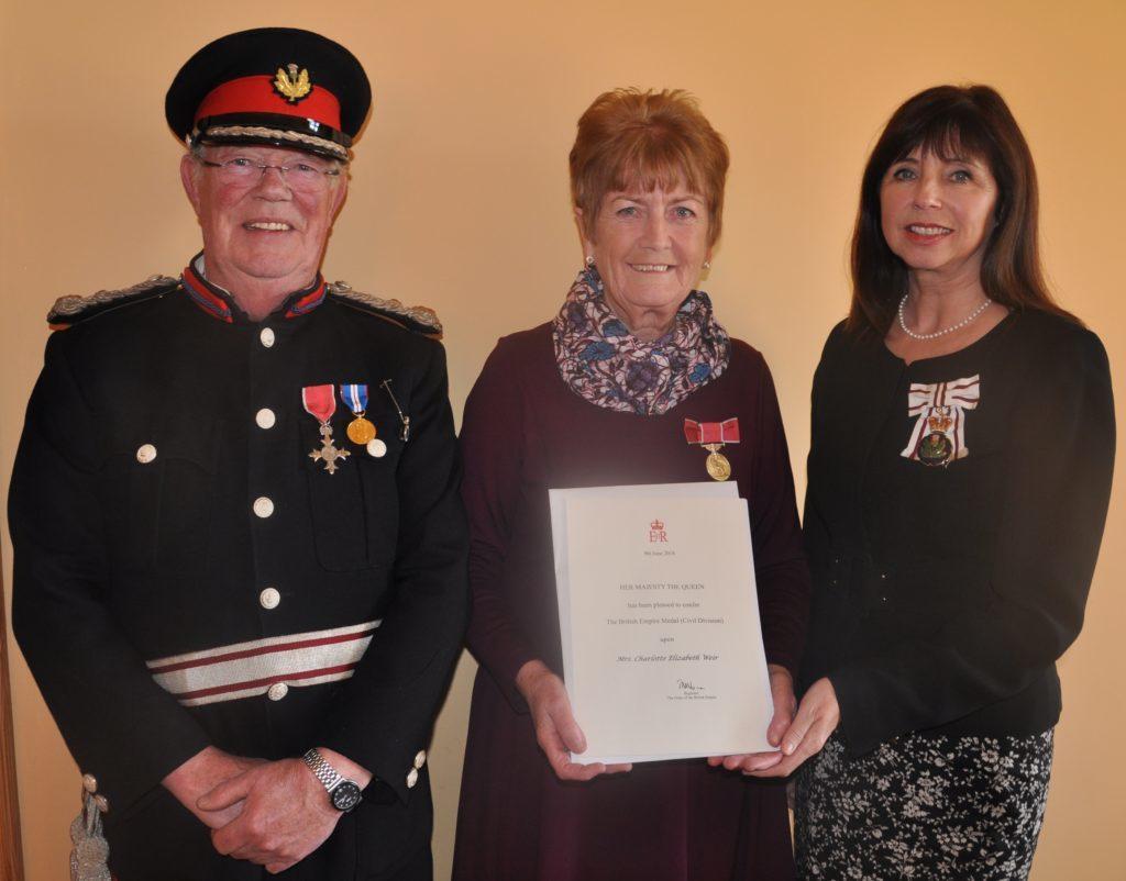 Charlotte honoured for tireless charity work