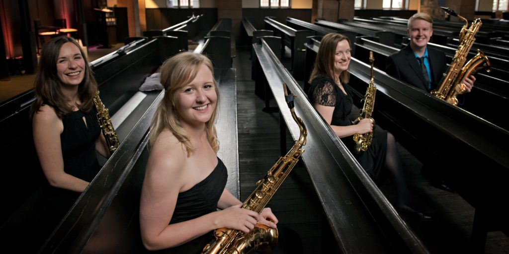 Sax Ecosse play in Brodick