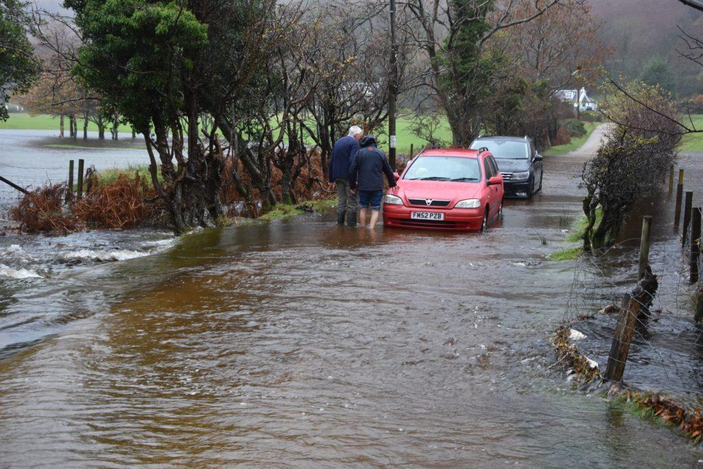 Lochranza hit by flash flood