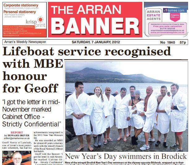 Arran Banner PDF Archive 2012