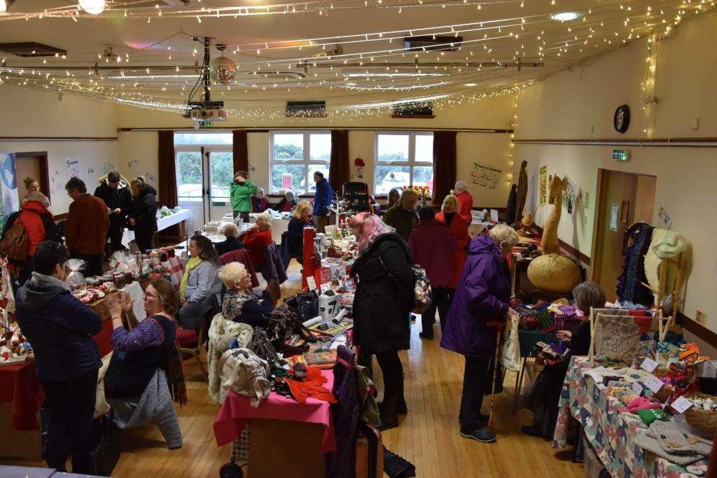 Crowds flock to Corrie Christmas craft fair