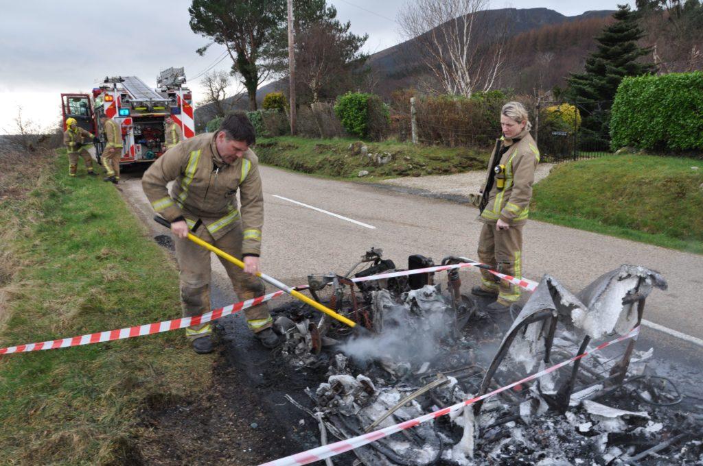 Pensioner narrowly escapes burning car