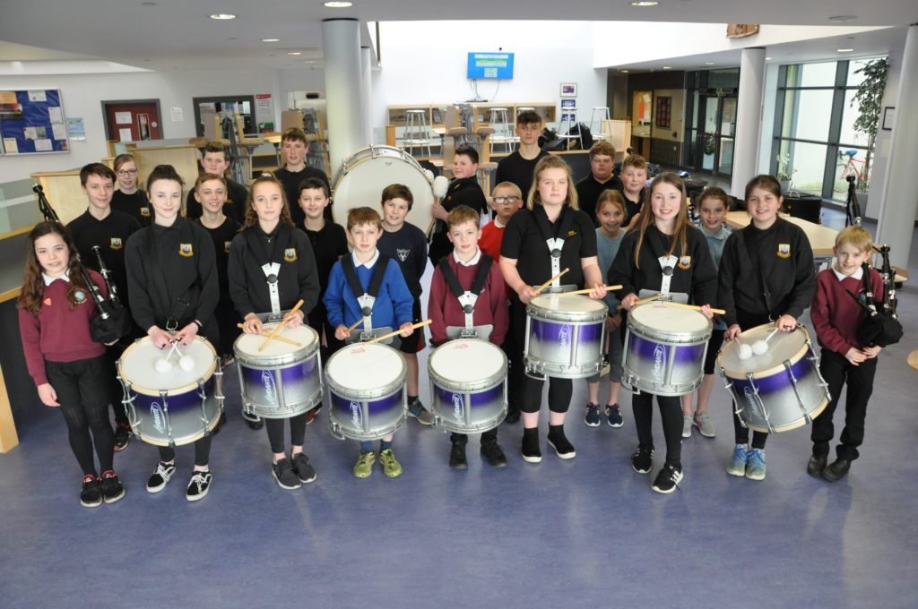 Proud day for pupils of new Arran pipe band