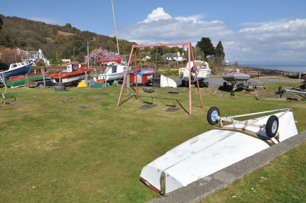 What can be done with danger boats at Corrie harbour?