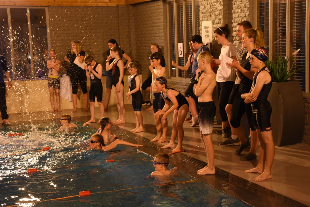 Fierce competition for swimmers at school gala