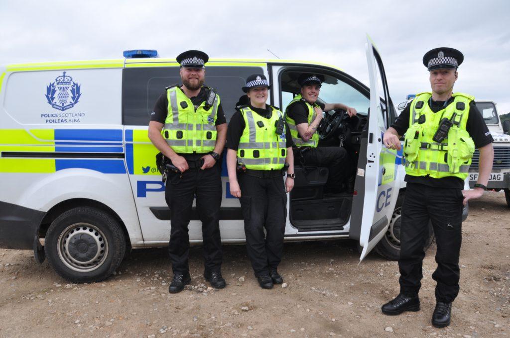 Summer police on patrol