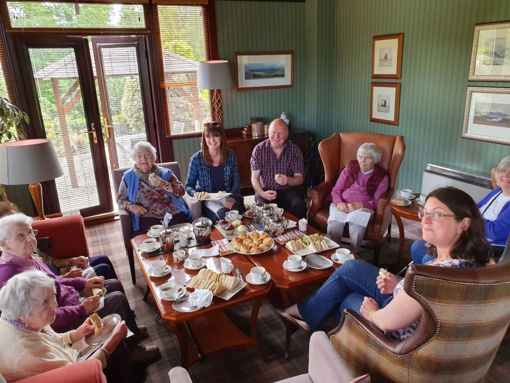 Elderly enjoy Auchrannie hospitality