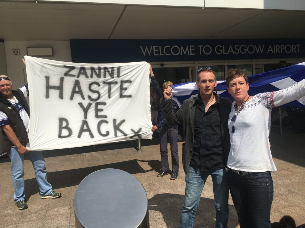 Lizanne leaves Scotland to fight for new visa