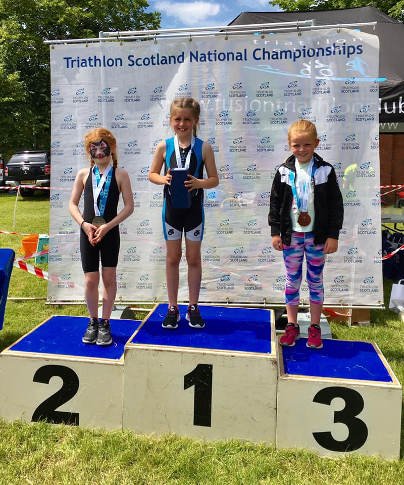 Isla is a Scottish youth triathlon champion