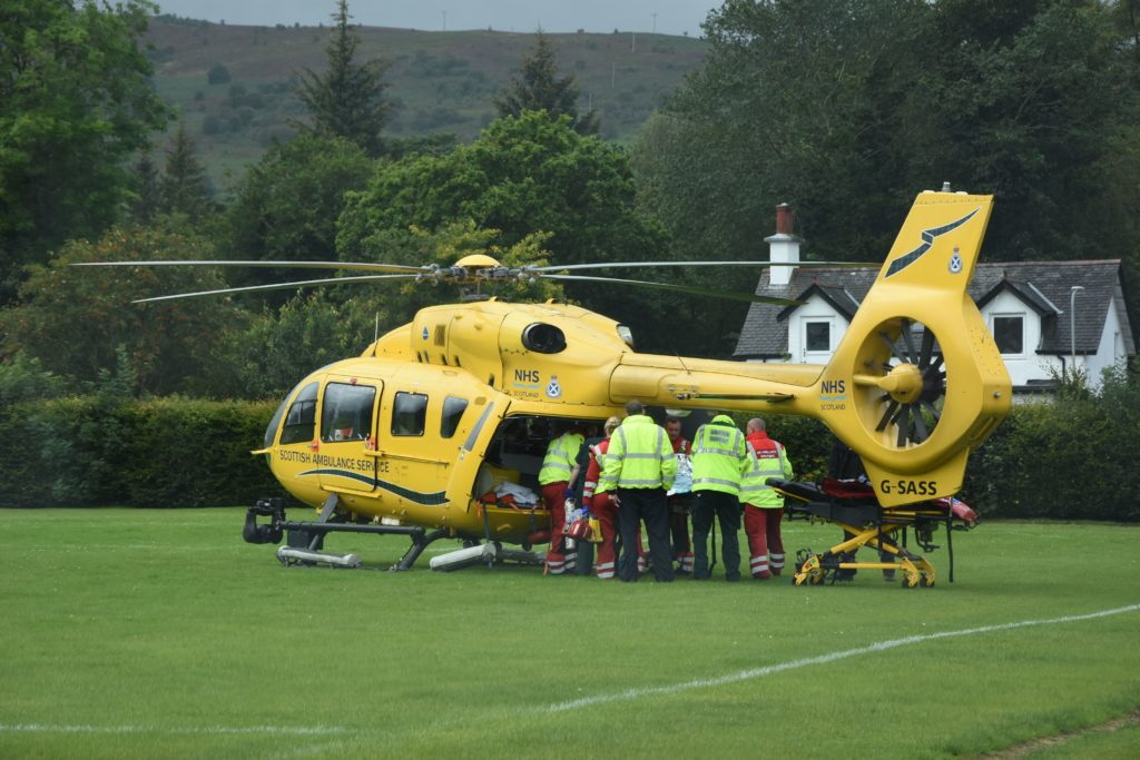 Badly injured cyclist airlifted to hospital