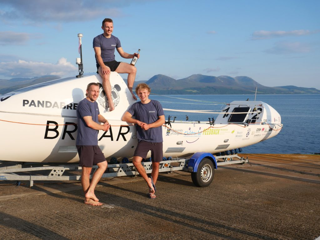 Arran stop for rowing brothers helping turn whisky into water