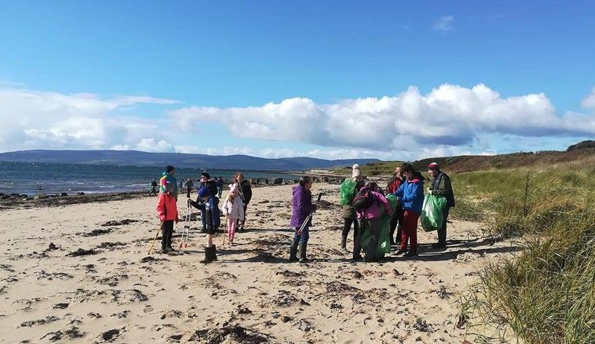 Arran beach clean assists with marine litter research