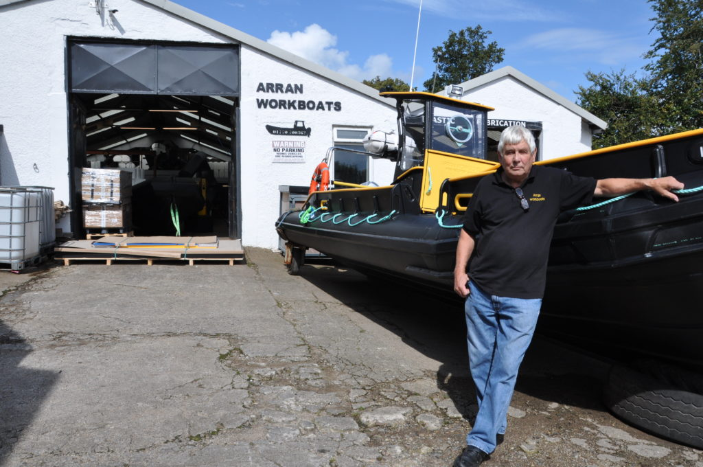Boat building alive and well on Arran