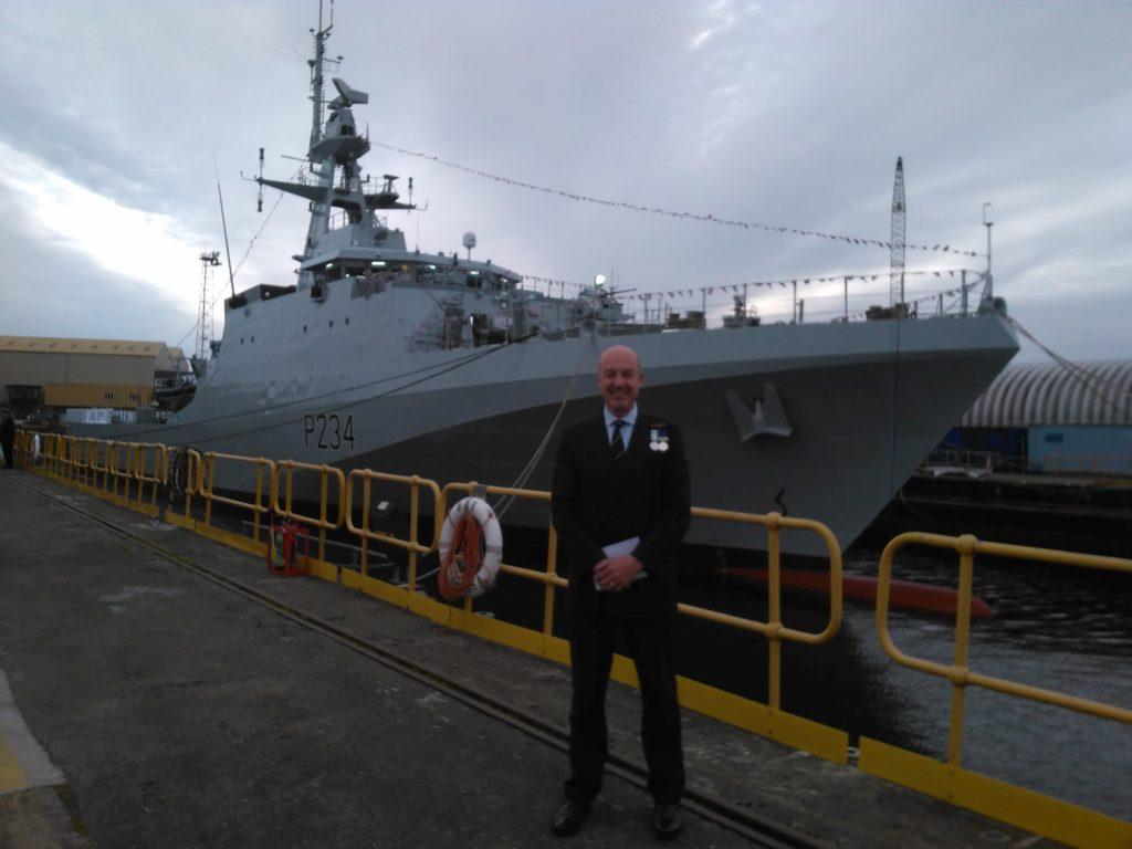 Arran sailor attends Glasgow ship naming ceremony