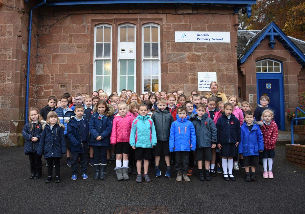 War memorial returns home to Brodick school