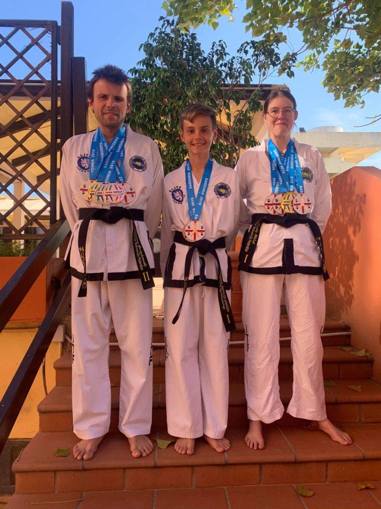 Taekwondo champions home with medal haul